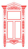 Traditionele Russische window_2 royalty-vrije illustratie