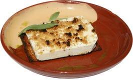 Traditionele salade met melk, honings en nootpitten Stock Foto