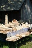 Traditionele schotels in een verkoopmarkt Stock Afbeeldingen