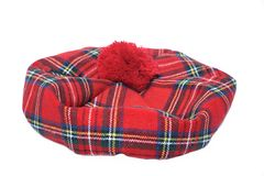 Traditionele Schotse Bonnet stock afbeelding