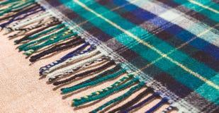 Traditionele Schotse wollen stof Royalty-vrije Stock Fotografie