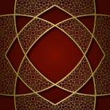 Traditionele sierachtergrond met abstract ingewikkeld kader Stock Afbeeldingen
