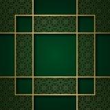 Traditionele sierachtergrond met vierkant kader Stock Foto's