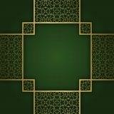 Traditionele sierachtergrond met vierkant kruiselings kader Royalty-vrije Stock Foto's