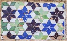Traditionele Spaanse verglaasde tegels, Toledo, Spanje royalty-vrije stock foto