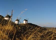 Traditionele Spaanse windmolens Stock Foto