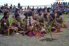 Traditionele stammendans bij maskerfestival Stock Afbeelding