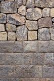 Traditionele steenmuren van Cuzco Stock Foto's