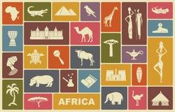 Traditionele symbolen van Afrika Royalty-vrije Stock Afbeelding