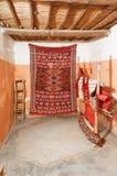 Traditionele tapijten in Marokko Stock Afbeelding