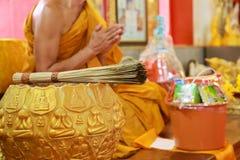 Traditionele Thai bidt stock foto