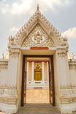Traditionele Thaise kunst van de stijl van de patroondeur Stock Afbeeldingen