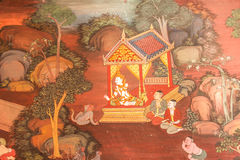 Traditionele Thaise kunst van het schilderen Royalty-vrije Stock Fotografie