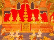 Traditionele Thaise kunst van het schilderen Royalty-vrije Stock Foto's