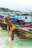 Traditionele Thaise lange staartboot Stock Afbeelding