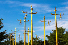 Traditionele Thaise stijl lichte pijler Stock Fotografie