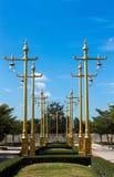 Traditionele Thaise stijl lichte pijler Stock Foto
