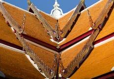 Traditionele Thaise stijlkunst van dak van Wat Phumin, Nan, Thailand Stock Afbeelding