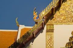 Traditionele Thaise stijlkunst van dak van Wat Phumin, Nan, Thailand Stock Foto