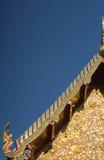 Traditionele Thaise stijlkunst van dak van Wat Phumin, Nan, Thailand Stock Afbeeldingen