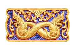 Traditionele Thaise stijlkunst van gipspleister 12 dierenriem Royalty-vrije Stock Foto