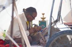 Traditionele Tibetaanse graveur Royalty-vrije Stock Fotografie
