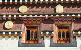 Traditionele Tibetan Architectuur Stock Foto