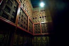 Traditionele Tibetan architectuur stock foto's