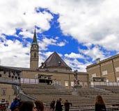 Traditionele tijdelijke concertzaal in openlucht voor operasta Stock Afbeelding