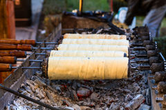 Traditionele Transylvanian-gebakjes - Kurtos kalacs Royalty-vrije Stock Foto's