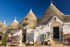Traditionele Trulli Alberobello Apulia Italië royalty-vrije stock afbeelding