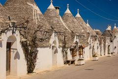Traditionele Trulli Alberobello Apulia Italië stock fotografie