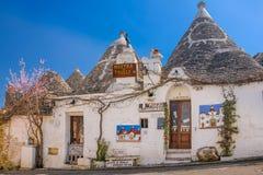 Traditionele Trulli Alberobello Apulia Italië royalty-vrije stock afbeeldingen