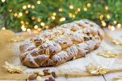 Traditionele Tsjechische Kerstmis gevlechte broodvanocka Stock Afbeelding