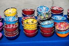 Traditionele Turkse ceramische platen stock afbeeldingen