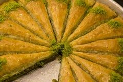 Traditionele Turkse diverse desserts; Heerlijk dessert Baklava stock fotografie
