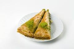 Traditionele Turkse diverse desserts; Heerlijk dessert Baklava stock afbeeldingen