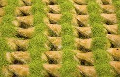 Traditionele Turkse diverse desserts; Heerlijk dessert Baklava royalty-vrije stock foto