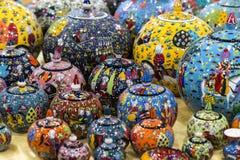 Traditionele Turkse geschilderde keramiek Royalty-vrije Stock Foto's