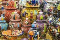 Traditionele Turkse geschilderde keramiek Stock Foto