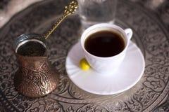 Traditionele Turkse koffie stock fotografie