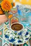 Traditionele Turkse koffie Stock Afbeeldingen
