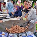 Traditionele Turkse pizza cuisine royalty-vrije stock afbeelding