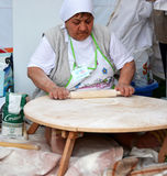 Traditionele Turkse pizza cuisine royalty-vrije stock foto