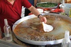 Traditionele Turkse pizza cuisine royalty-vrije stock foto's