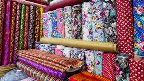Traditionele Turkse stoffen, achtergrond Stock Afbeeldingen