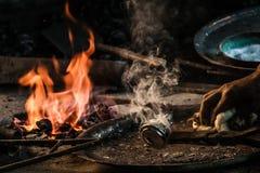 Traditionele Turkse Tingieter Covering de Koperplaat met Tin royalty-vrije stock fotografie