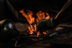 Traditionele Turkse Tingieter Covering de Koperplaat met Tin royalty-vrije stock foto's