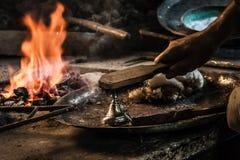Traditionele Turkse Tingieter Covering de Koperplaat met Tin stock afbeelding