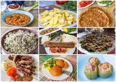 Traditionele Turkse voedselcollage Stock Fotografie